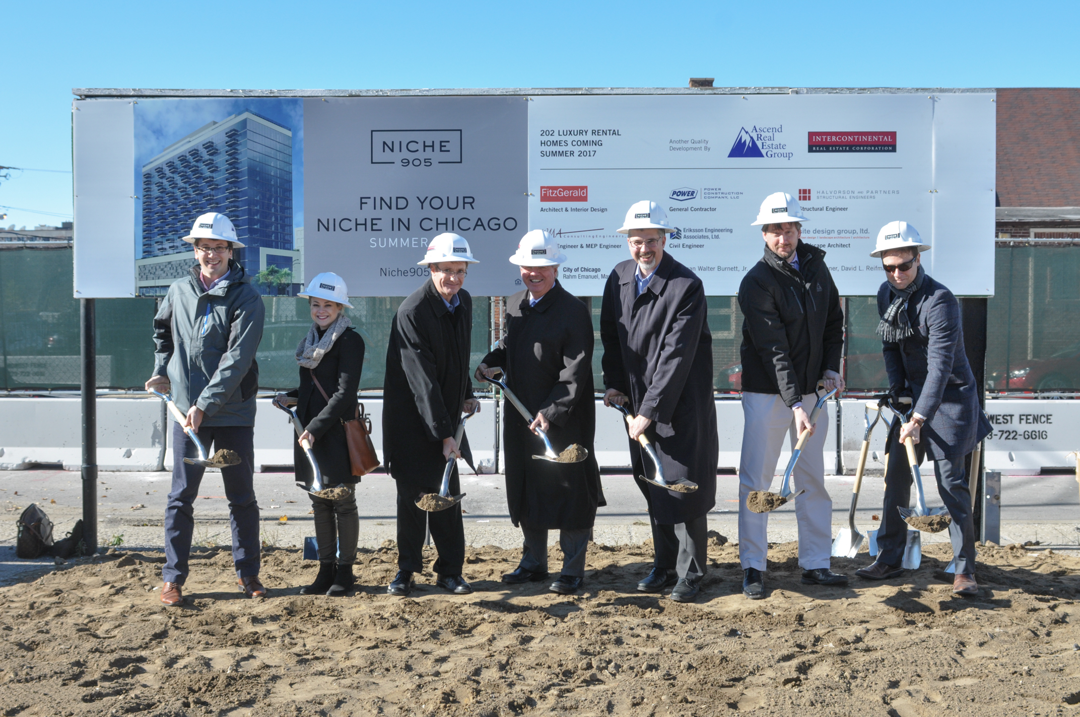 Groundbreaking at Niche 905