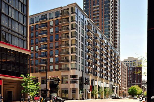 One Place Condominiums and South Loop Shops
